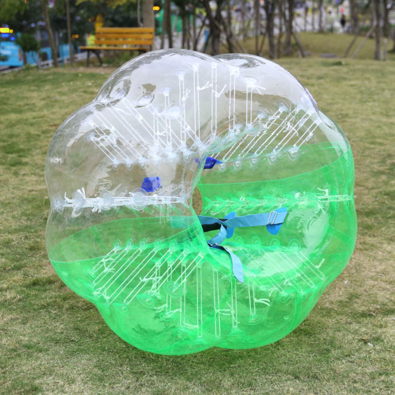 Bumper Ball TPU Transparent Inflatable Ball Human Knocker Ball Bubble Soccer 1.5M Diameter... by