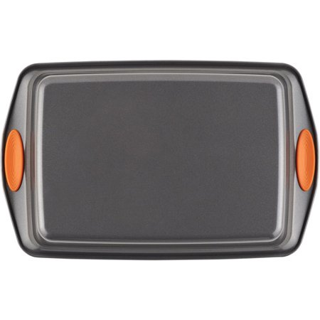 Rachael Ray 5-Piece Yum-o! Nonstick Bakeware Baking Pans Set, Gray and Orange