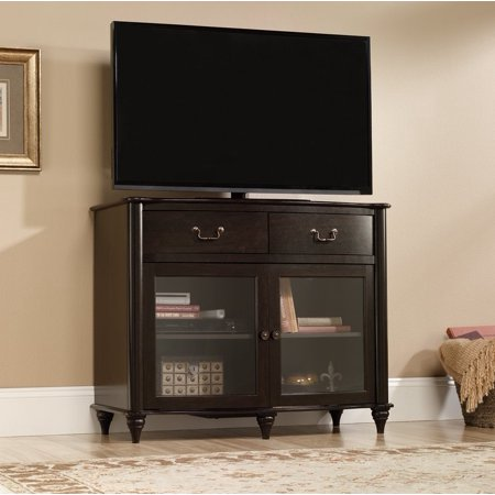 sauder furniture 416697 new albany home highboy tv stand jamocha dark wood. Black Bedroom Furniture Sets. Home Design Ideas