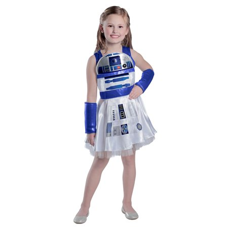 Girls Classic Star Wars R2D2 Dress Costume](Movie Star Girls Costume)