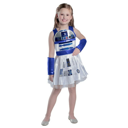 Girls Classic Star Wars R2D2 Dress Costume - Kids R2d2 Costume