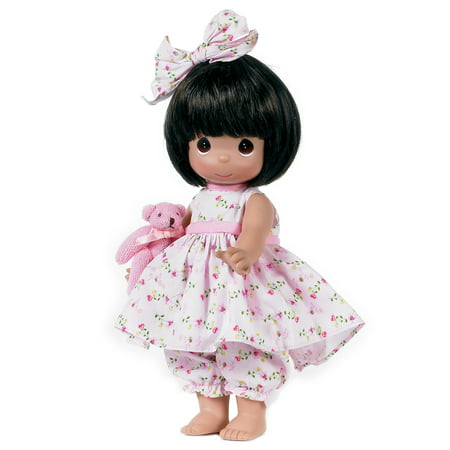 Precious Moments Dolls by The Doll Maker, Linda Rick, Bear-Foot Blessings Brunette, 12 inch doll