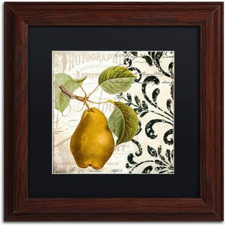"""Trademark Fine Art """"Les Fruits Jardin I"""" Canvas Art by Color Bakery Black Matte, Wood Frame"""
