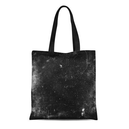 ASHLEIGH Canvas Bag Resuable Tote Grocery Shopping Bags Scratch Scary Grunge Dark Scratched Old Halloween Black White Dirt Abstract Horr Tote Bag](Halloween Dirt)