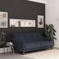 Novogratz Vintage Tufted Velvet Split Back Sofa Bed