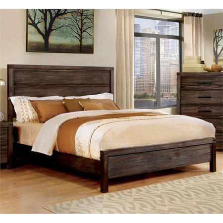Furniture of America Bahlmer California King Panel Bed in Rustic