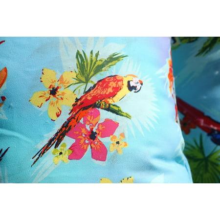 Indoor/Outdoor Throw Pillows (LUMBAR)- PARROTS (Set of - Parrot Throw Pillow