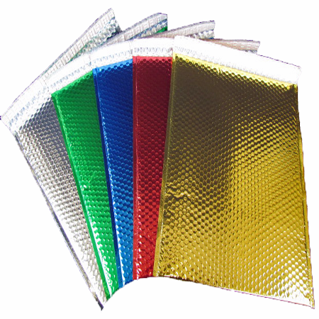 """100 Green Bubble Mailers 9""""x11.5"""" Metallic Glamour Self-Sealing Envelopes by Uboxes"""