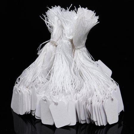 500 Pack String Price Tags Jewelry Clothing Sale Display Retail Tag Discount Label