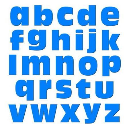 Graphics and More Alphabet Letters Lowercase Novelty Gift Locker Refrigerator Vinyl Magnet Set, Blue