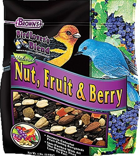 Brown's Bird Lover's Blend Nut, Fruit & Berry Bird Food, 5 Lb by F.M. BROWN'S SONS, INC.