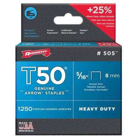 s 50524 T50 5/16 Inch (8mm) Staples, 5/16