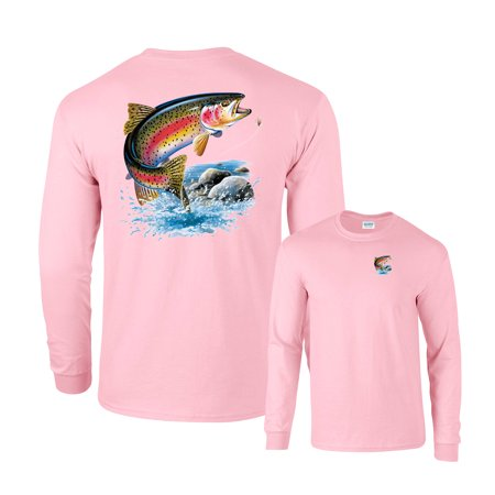 Rainbow Trout Going for Lure Fishing Long Sleeve