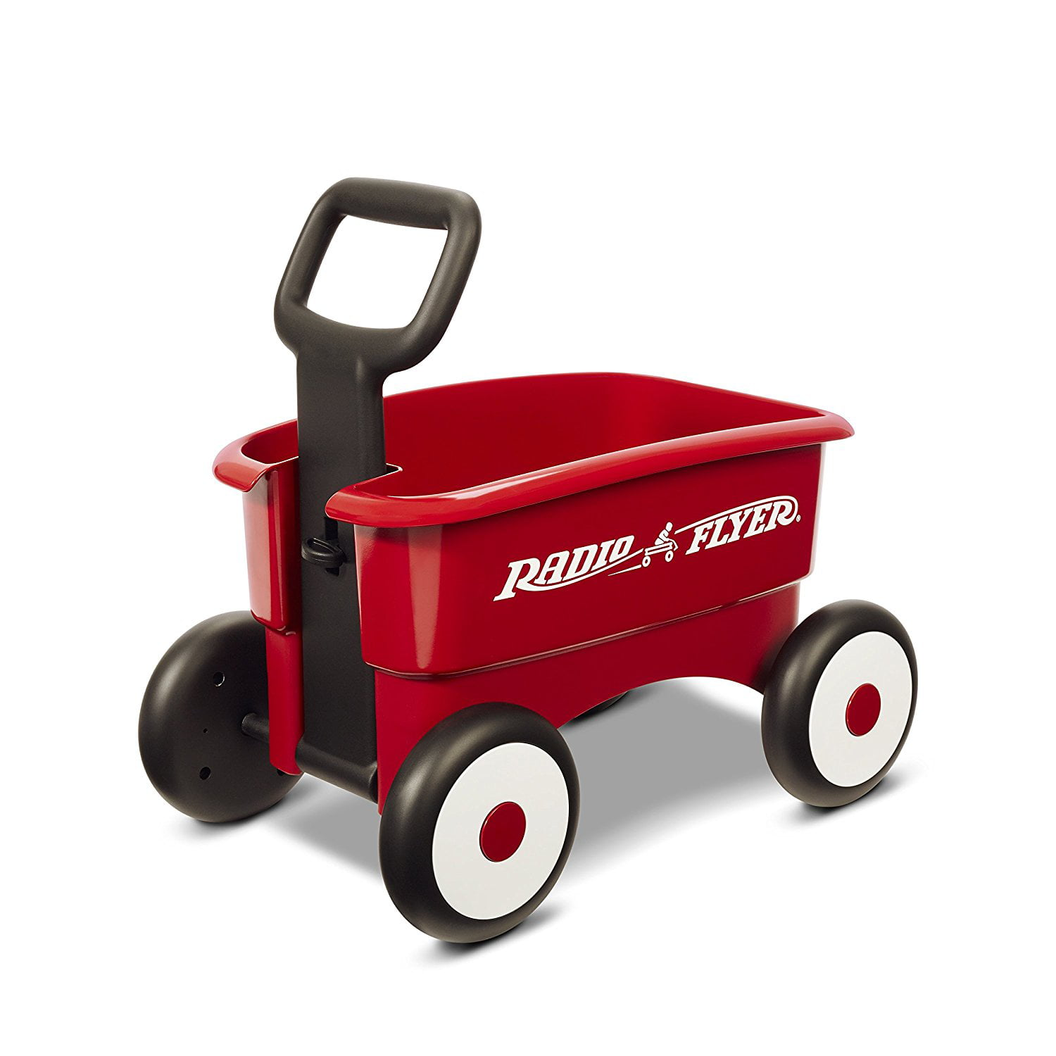 My 1st 2-in-1 Wagon Ride On, Red, 2 wagons in 1 the handle can be locked for a walker wagon, or released for a... by