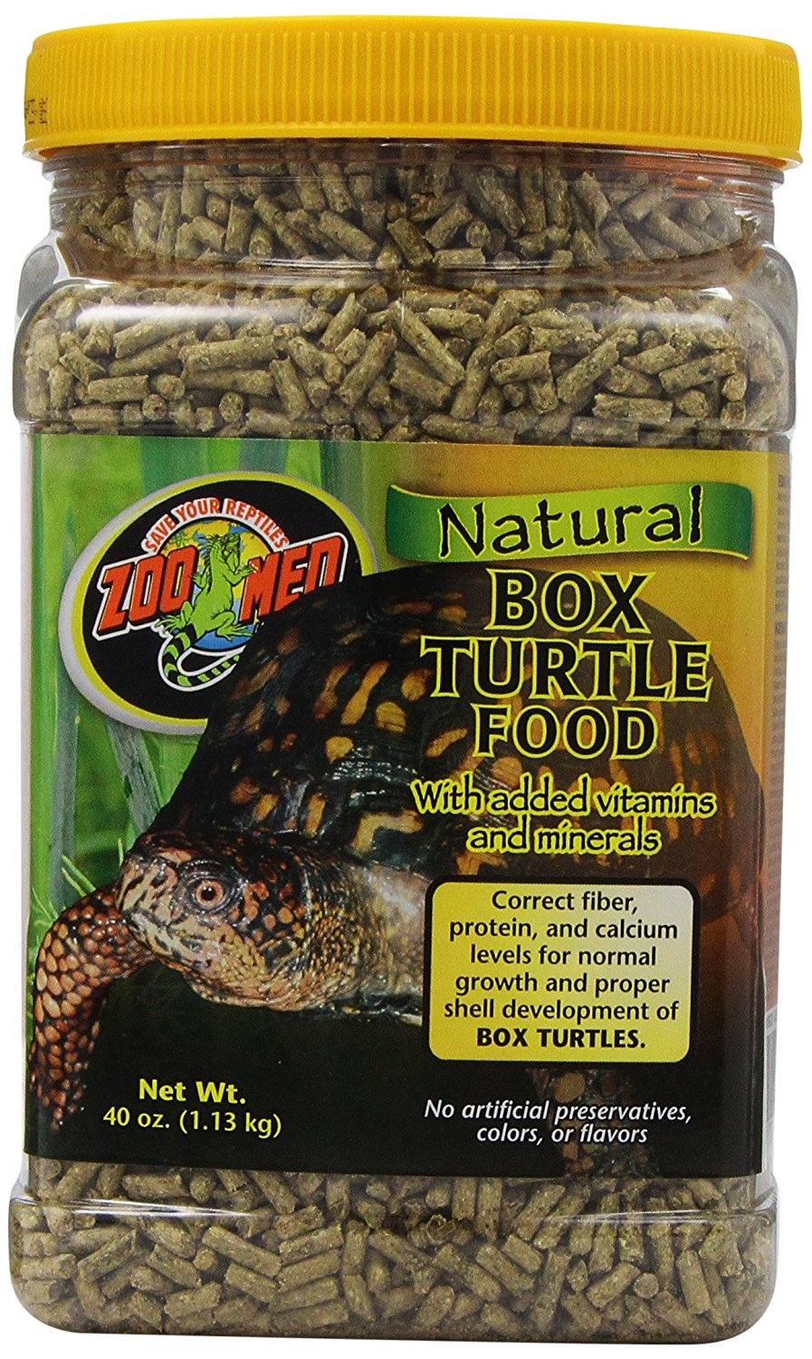 Natural Box Turtle Food, 40-Ounce, All natural By Zoo Med by