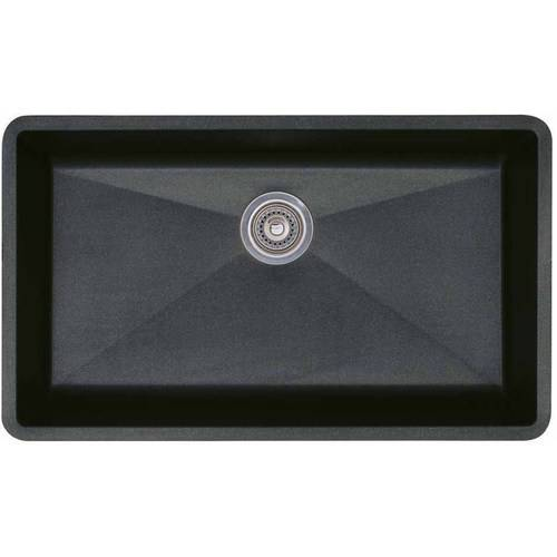 """Blanco 440147 Precis 18.75"""" X 32"""" Single-Basin Granite Undermount Residential Kitchen Sink, Available in Various Colors"""