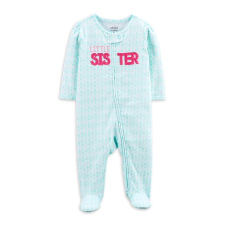 Child of Mine by Carters Baby Girl Sister Sleep N Play
