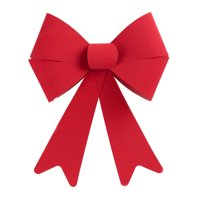 "Holiday Time Red Velvet Bow Christmas Decoration, 14"" x17"""