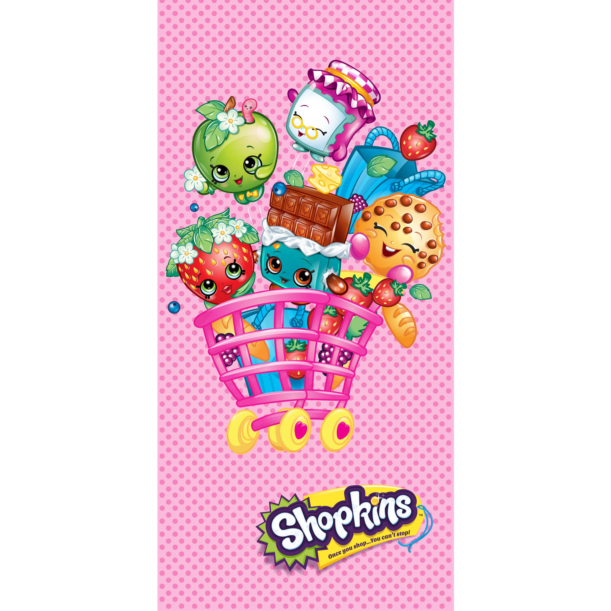 Shopkins Beach Shopping Cart Beach Towel