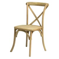Commercial Seating Products Sonoma Rustic Cross Back Stackable Dining Chair
