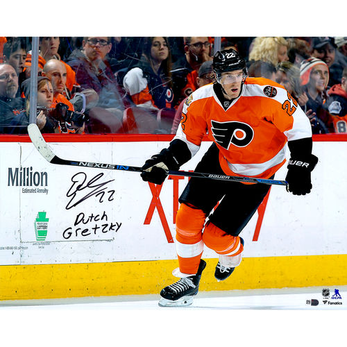 "Dale Weise Philadelphia Flyers Autographed 16"" x 20"" Orange Jersey Skating Photograph with Dutch Gretzky... by Fanatics Authentic"
