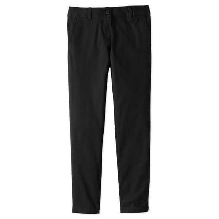 Wonder Nation Girls Plus School Uniform Stretch Twill Skinny Pants (Plus) (Bear Grils Pants)