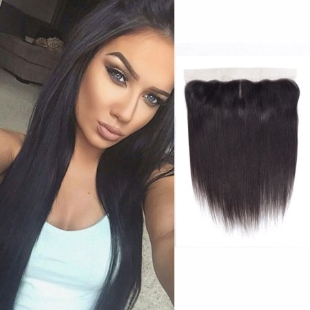 """YYONG 13*4 Brazilian Virgin Hair Ear To Ear Lace Frontal Closure Straight Bleached Knots 100% Human Hair Lace Frontal, 12"""""""