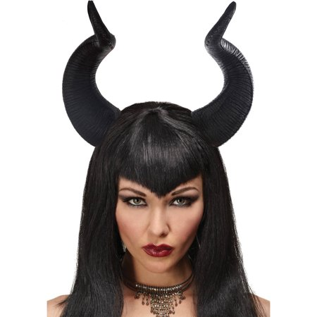 Queen Ficent Horns Adult Halloween Accessory - Halloween Maleficent Horns