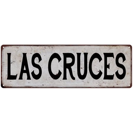 LAS CRUCES Vintage Look Rustic Metal Sign Chic City State Retro 6186016](Party City Las Cruces)
