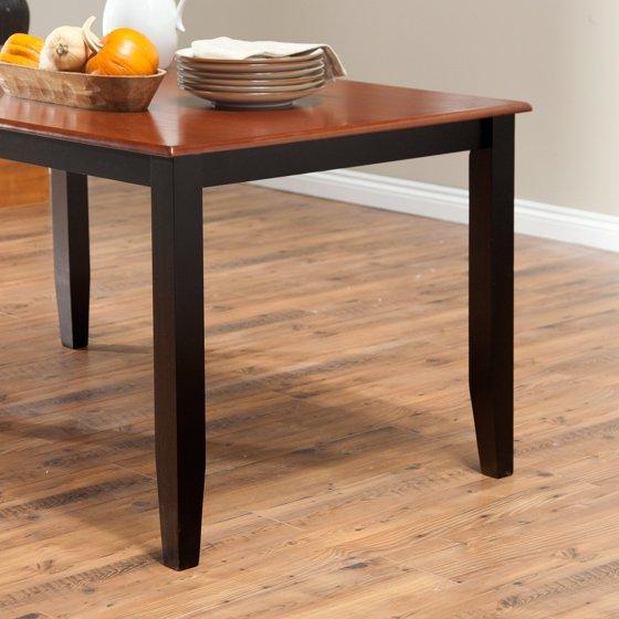 Boraam Bloomington Dining Table Set - Black/Cherry - Walmart.com