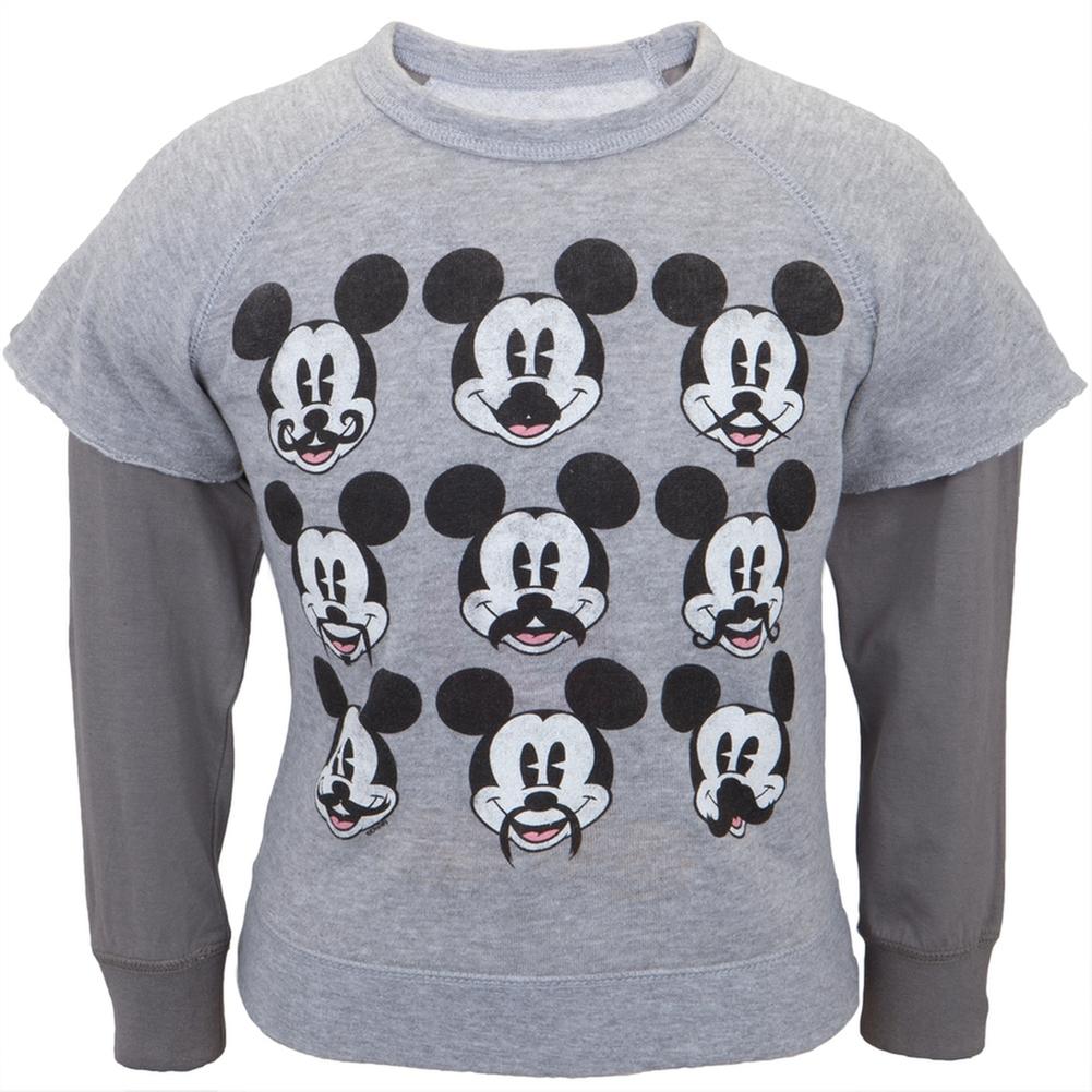 Mickey Mouse - Mustache Juvy Reversible Crewneck Sweatshirt