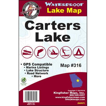 Kingfisher Maps Waterproof Lake Map Carters - Walmart.com on