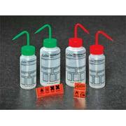 DYNALON Wash Bottle,Std,8 oz,Write-On,Red,PK5 506995-0003