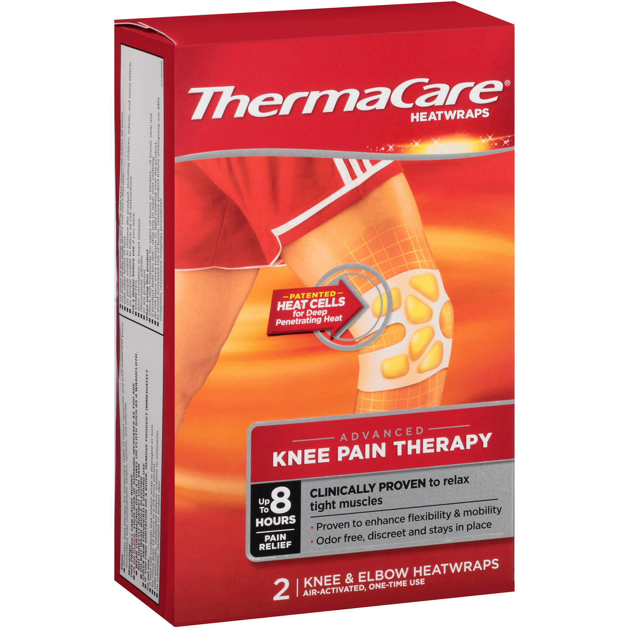 Thermacare Knee & Elbow Pain Therapy Heatwraps 2 Ct