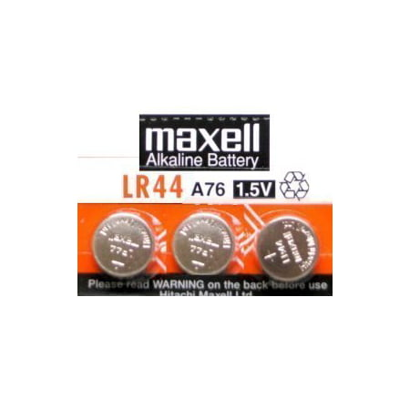 6 Pack MAXELL AG13 LR44 A76 357 Alkaline Button Cell batteries New hologram packaging that guarantees authenticity