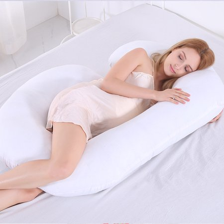 C shape  Design Pillow Pregnancy Maternity  Belly Body Pillow Soft Washable Maternity Pillow Body Pillow For Pregnant Women 55X28 inch - image 6 de 7