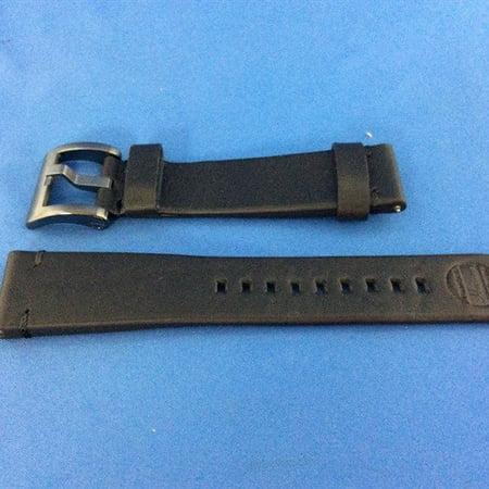 Refurbished Strap Studio Samsung 22mm Gear S3 Essex Leather Strap - Black