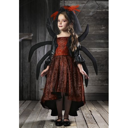 Girl's Spooky Widow Dress - Black Widow Costumes