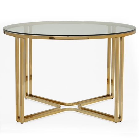 MoDRN Glam Marni Glass Dining Table
