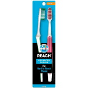 REACH Advanced Design Toothbrushes Firm Full Head Color May Vary 2 ea