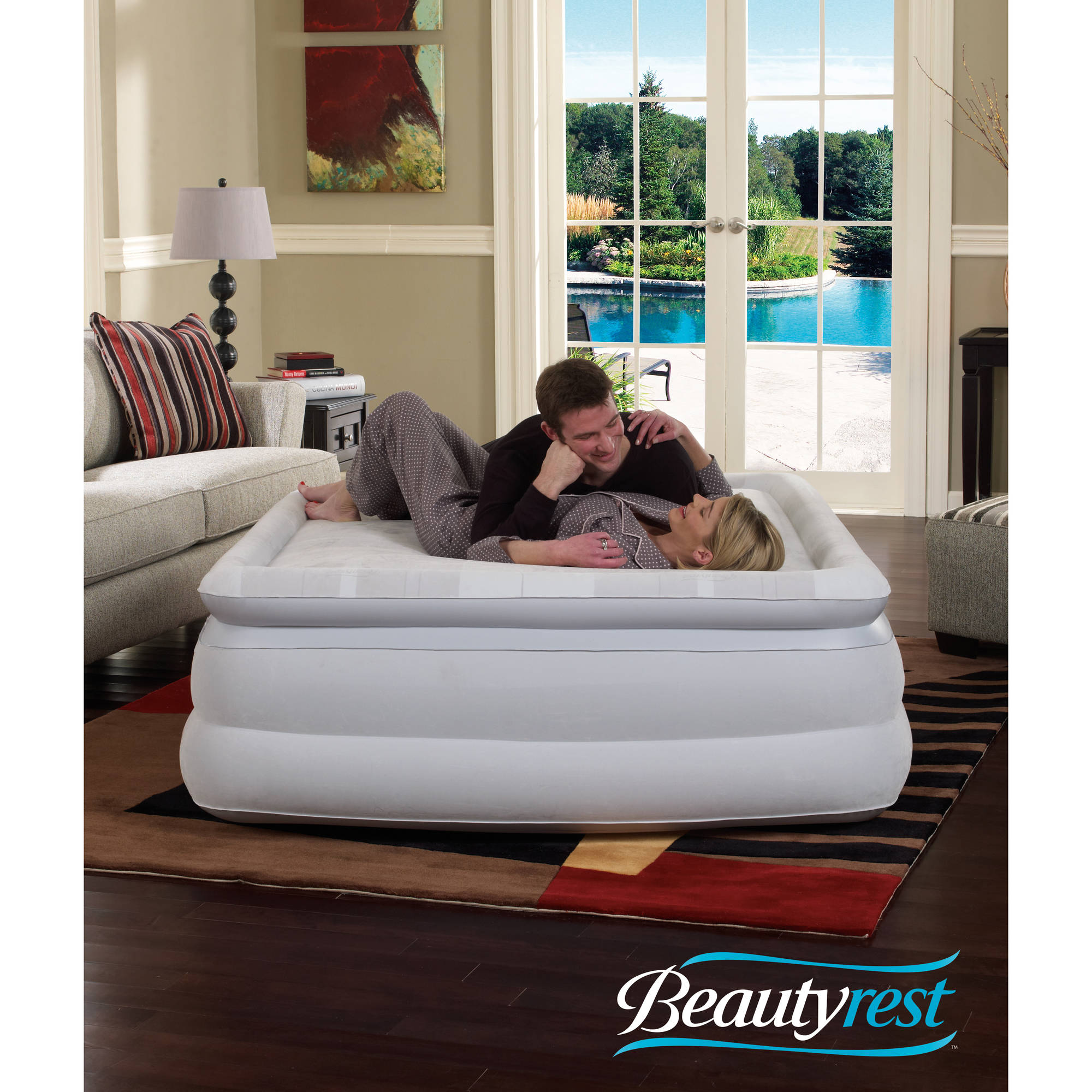 beautyrest air mattress twin Simmons Beautyrest Silver Memory Aire with Internal Pump Raised  beautyrest air mattress twin