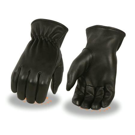 Milwaukee Leather Men's Deerskin Thermal Lined Gloves w/ Cinch - Leather Mens Bike Glove