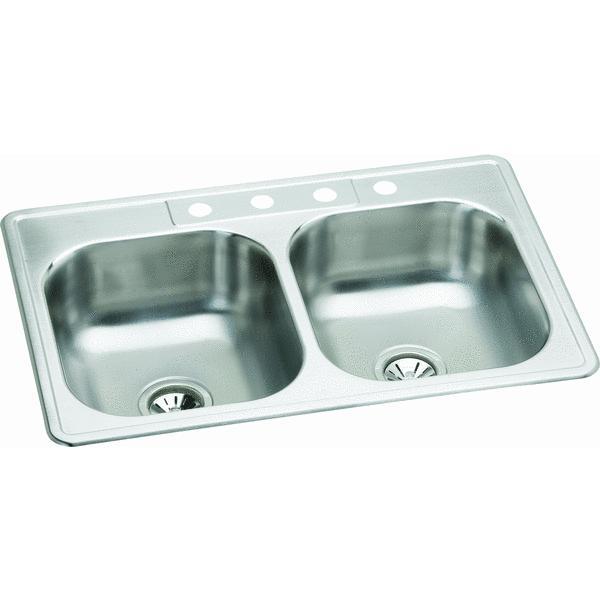 Elkay Double Stainless Steel Sink Walmart Com