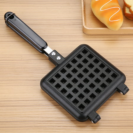 WALFRONT Household Kitchen Gas Non-Stick Waffle Maker Pan Mould Mold Press Plate Cooking Baking Tool, Waffle Baking Pan, Waffle Maker (Gap Press)