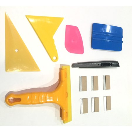 Window Film Tint Tools kit 19 - 6 Razor 1 knife 5 squeegee ( 1 is