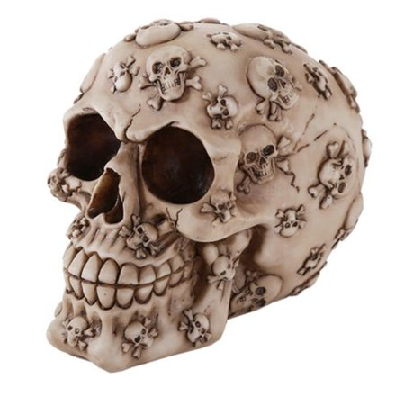 Halloween Jars Crafts (Skull Cross and Bones Skull Money Bank 4.25 Inches Halloween Decor Gift, Individually hand-crafted from cold cast resin By Pacific)