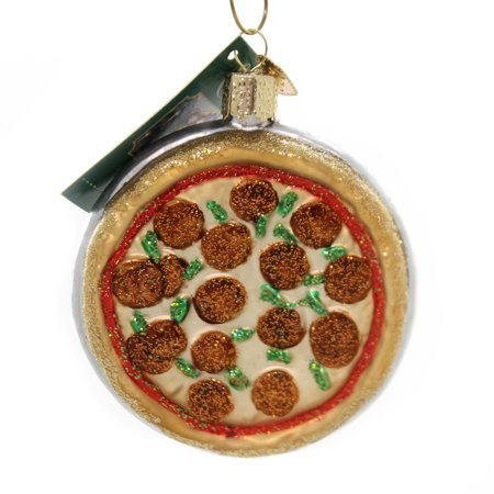 Old World Christmas PIZZA PIE Glass Deep Dish Pepperoni