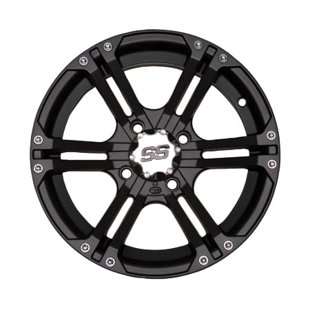 4/110 ITP SS212 Alloy Series Wheel 14x8 3.0 + 5.0 Matte Black for Suzuki Eiger 400 4x4 Automatic
