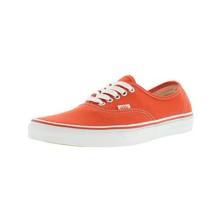 ffd82c5dad Vans - Vans Authentic Canvas Cherry Tomato   True White Skateboarding Shoe  - 10.5M 9M - Walmart.com