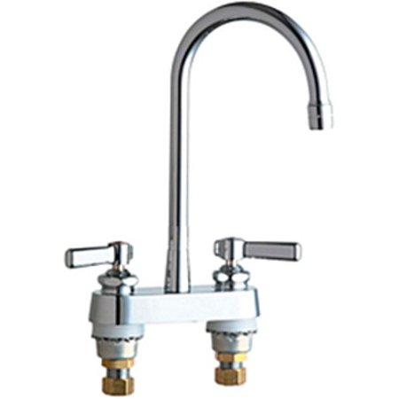 Chicago Faucets 895 Rgd2ab Commercial Grade Kitchen Faucet With High Arch Spout And Lever Handles